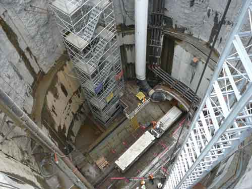 Bottom of the pipe shaft