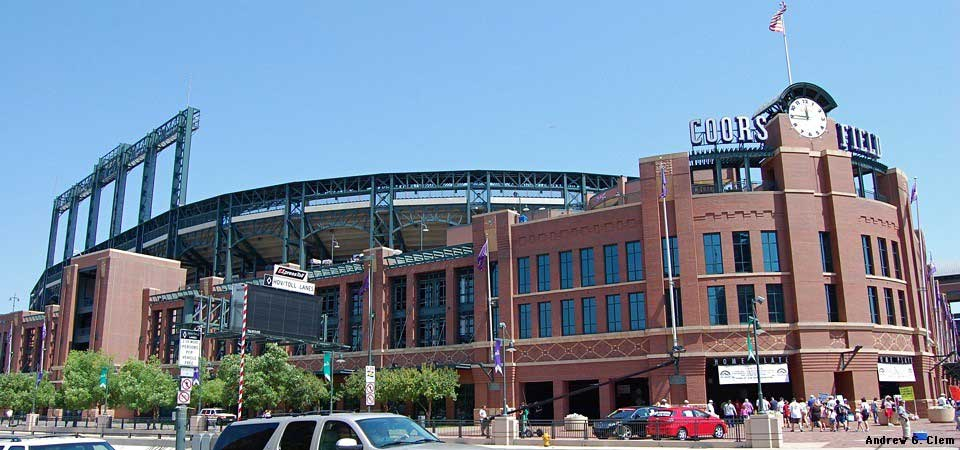 Coors Field stadium south entrance. Photo courtesy of Semi Pro Guides.