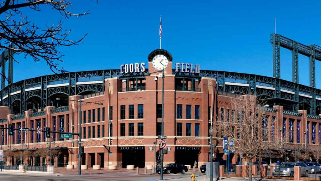 Coors Field stadium main entrance with clock tower. Photo courtesy of Omni Hotels and Resorts