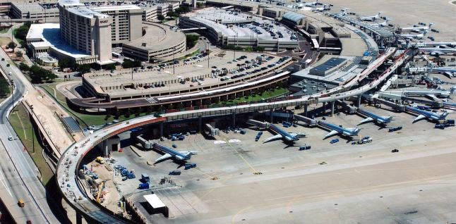 Dallas Fort Worth International Airport aerial view. Photo courtesy of Kiewit Construction.