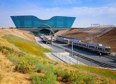 Denver International Airport train entrance