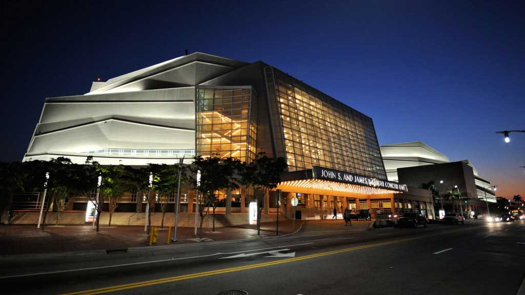 Adrienne Arsht Center in Miami showing exterior. Photo courtesy of The Adrienne Arsht Center.