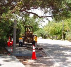 Public works under construction in Fort Lauderdale