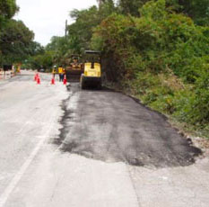 Fort Lauderdale paving a road after installation of a sewer pipe