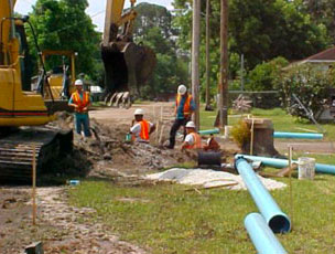 Jacksonville men working on sewer project