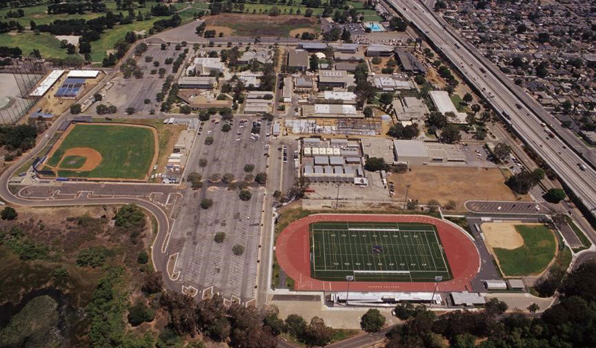Harbor College campus from the air