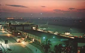 Ontario International Airport at sunset