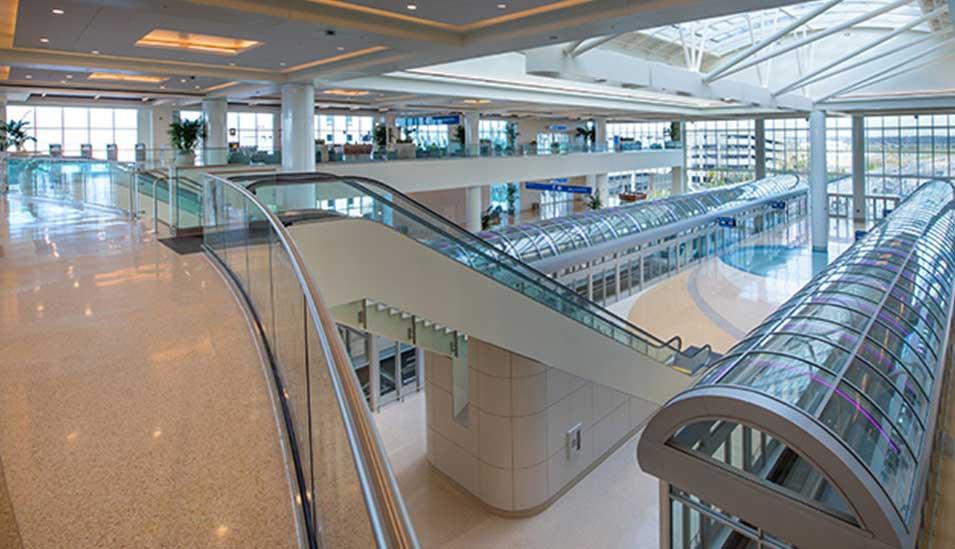 Greater Orlando Airport south terminal interior. Photo courtesy of Orlando Airports