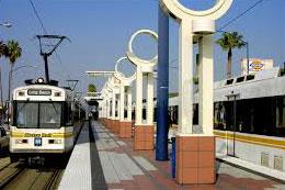 Pasadena Blue Line at a stop