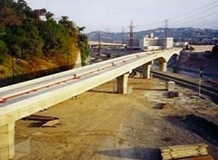 Pasadena Metro Blue Line under construction
