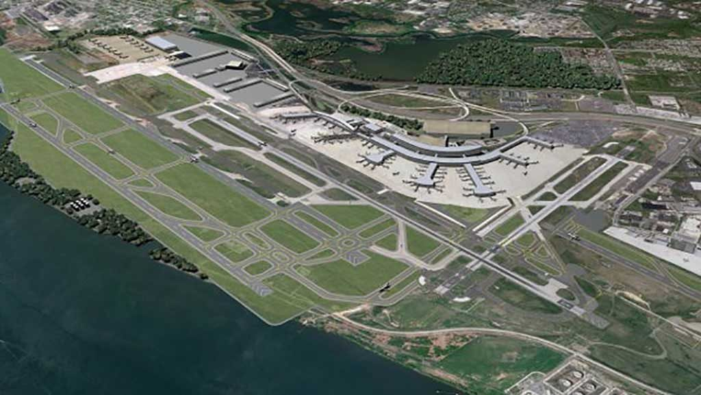 Philadelphia International Airport from the air. Photo courtesy of CH2M (Hill)