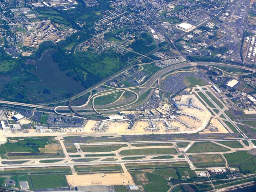 Philadelphia International Airport from the air