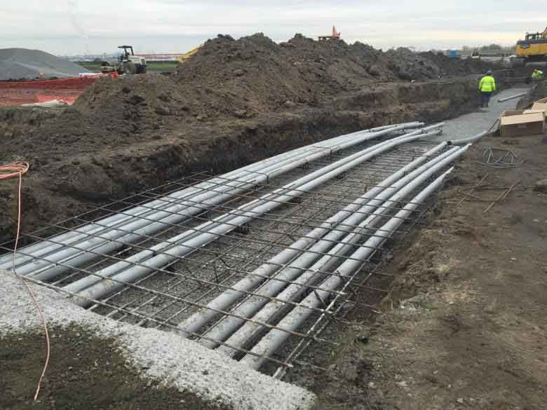 Building a runway at Philadelphia International Airport