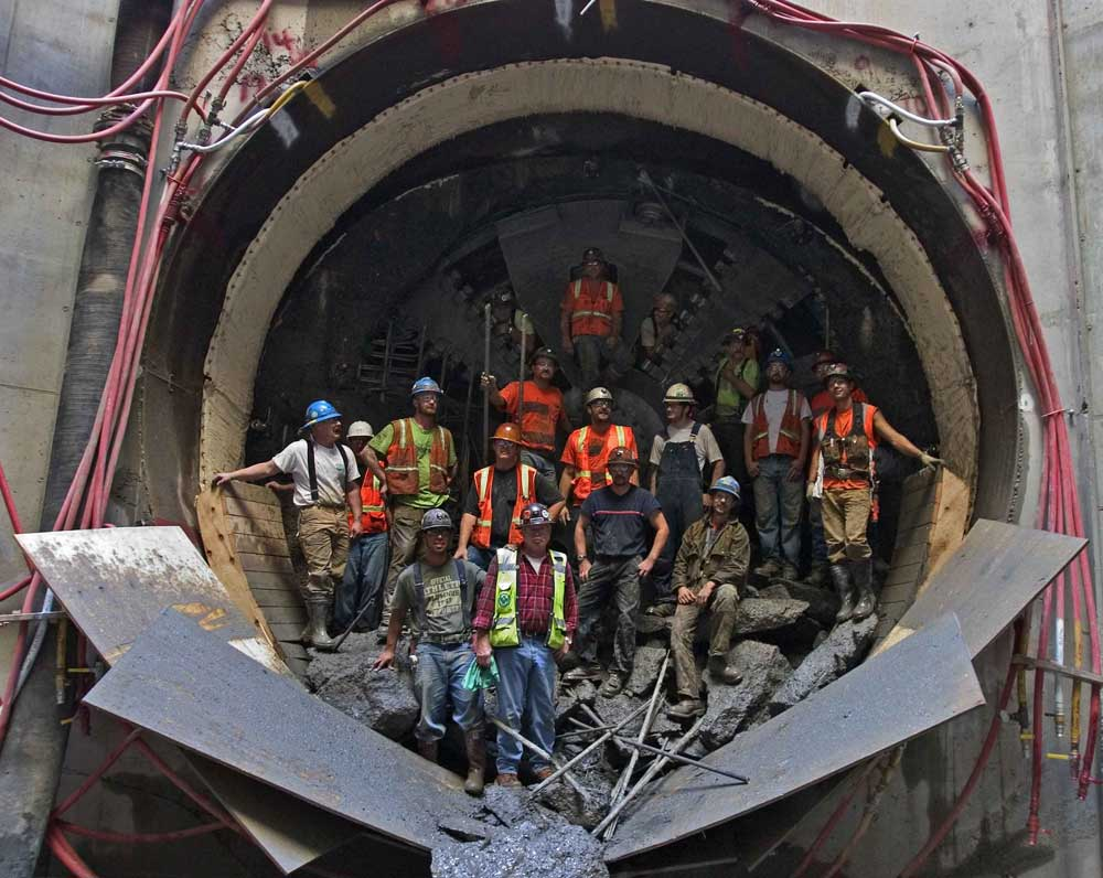 The crew of the Big Pipe project