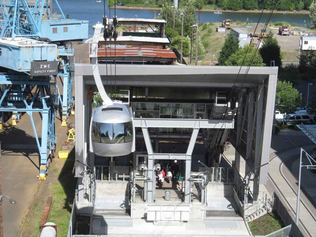South Waterfront turnaround for Portland's Aerial Tram. Photo by Doug Kerr..
