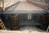 Steel rebar is part of the construction on the Pasadena Blue Line