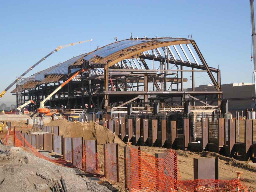 LAX under construction shows cranes. Photo courtesy of John A Martin Associates