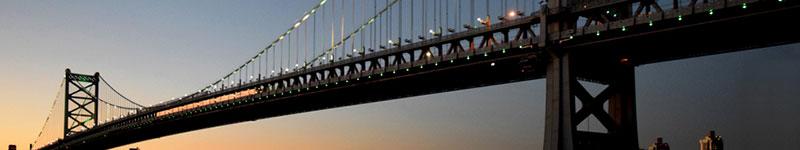 Ben Franklin Bridge, Delaware. Photo courtesy of The Delaware River Port Authority,