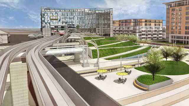 Jacksonville Transit Authority artist rendering and concept showing rail view