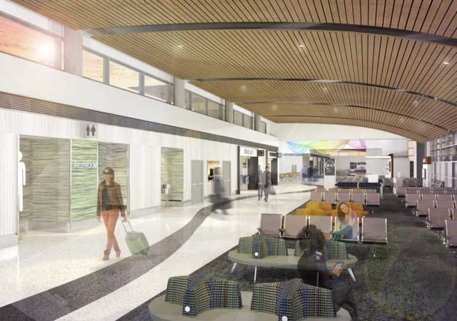 Artist rendering of the Nashville Airport hallway. Photo courtesy of Hensel Phelps