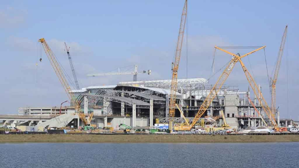 Orlando International Airport construction. Photo courtesy of Jim Carchidi/Orlando Business Journal.