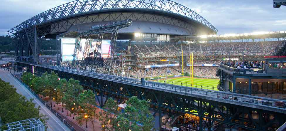 Safeco Field in Seattle. Photo courtesy of the Silver Cloud Hotel Seattle,